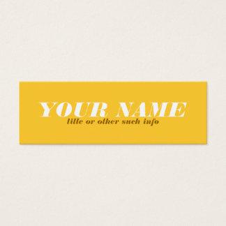 調的な黄色黄土のテレホンカード スキニー名刺