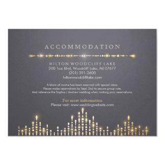 調節を結婚する魅力的な金ゴールドのアール・デコのヴィンテージ 11.4 X 15.9 インビテーションカード