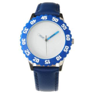 調節可能な斜面が付いているステンレス鋼の青い腕時計 腕時計
