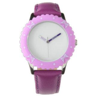 調節可能な斜面、ステンレス鋼の紫色の腕時計 腕時計