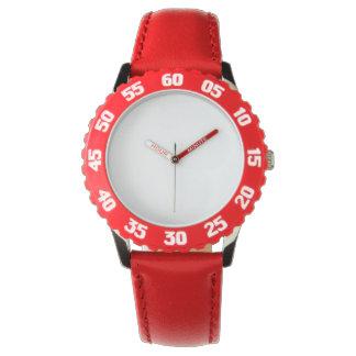 調節可能の子供のステンレス鋼の赤い腕時計はあります リストウオッチ