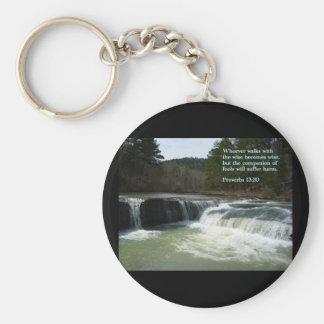 諺の13:20の滝 キーホルダー