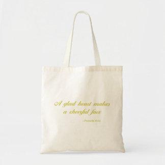 諺の15:13% pipe%の聖書の引用文|の黄色 トートバッグ