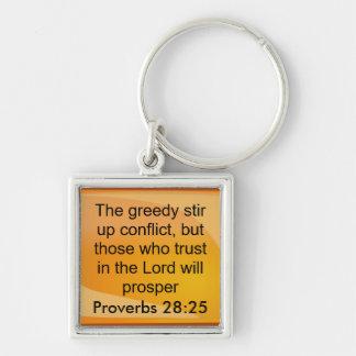 諺の28:25のkeychin キーホルダー