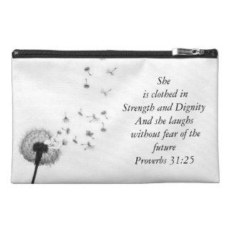 諺の31:25 トラベルアクセサリーバッグ