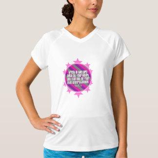 諺の3:5の(ピンクの)女性の二重乾燥した訓練 Tシャツ
