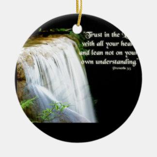 諺の3:5 セラミックオーナメント