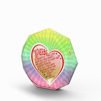 諺の3:5 -主のW ALL YOUR HEART 6信頼 表彰盾