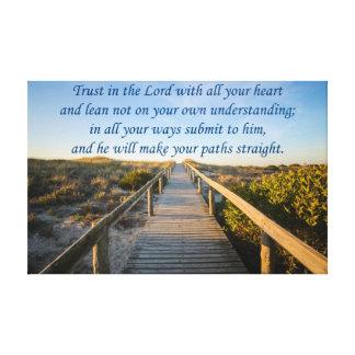 諺の3:5 - 6 キャンバスプリント