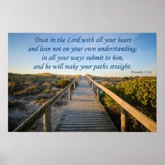 諺の3:5 - 6 ポスター