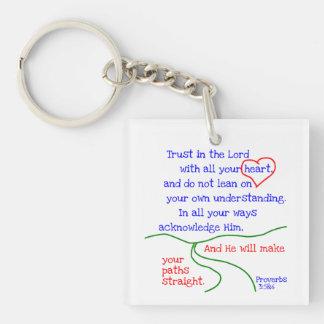 諺の3:5 &6 Keychain キーホルダー