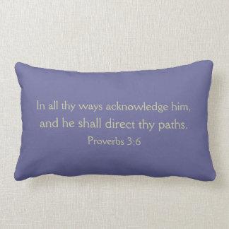 諺の3:6のLumbarの枕 ランバークッション