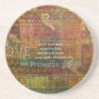 諺の3:6: 感動的な聖書の詩 コースター
