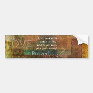 諺の3:6: 感動的な聖書の詩 バンパーステッカー