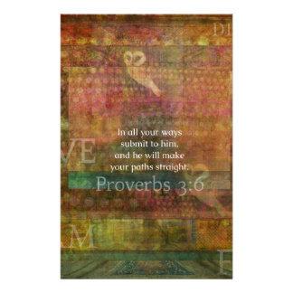 諺の3:6: 感動的な聖書の詩 便箋