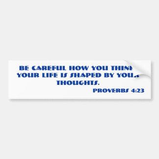 諺の4:23の聖書の詩 バンパーステッカー