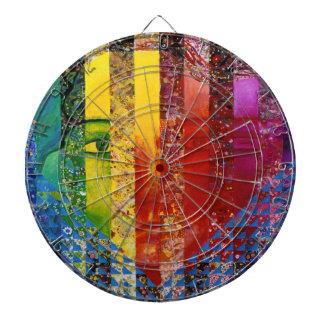 謎解き問題I -抽象的な虹の女性の女神 ダーツボード