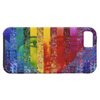 謎解き問題I -抽象的な虹の女性の女神 iPhone SE/5/5s ケース