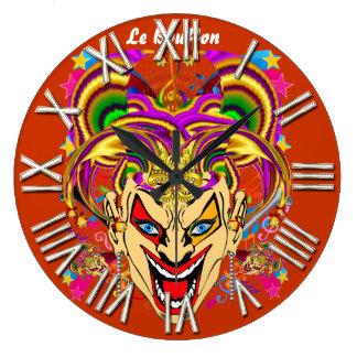 謝肉祭のこっけい者のジョーカーの意見は暗示します ラージ壁時計
