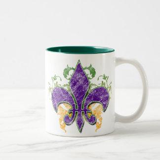 謝肉祭のアヤメのグランジなマグ ツートーンマグカップ