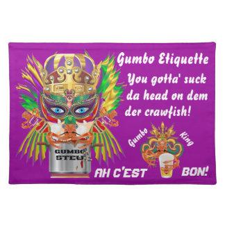 謝肉祭のオクラの女王の意見は暗示します ランチョンマット