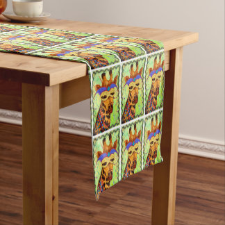 謝肉祭のキリンのテーブルのランナー ショートテーブルランナー
