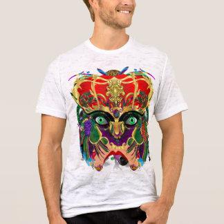 謝肉祭のコンボのバッカスの仮面舞踏会のドラゴン王 Tシャツ