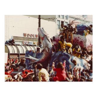 謝肉祭のズールーの浮遊物 ポストカード