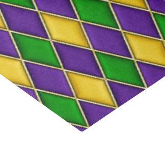 謝肉祭のダイヤモンドの道化師のプリントパターン 薄葉紙