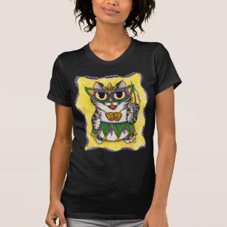 謝肉祭のパーティー猫のニュー・オーリンズのファンタジーの芸術のワイシャツ Tシャツ