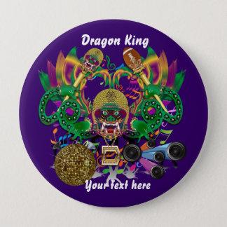 謝肉祭のフットボールのドラゴン王の意見は注意します 10.2CM 丸型バッジ