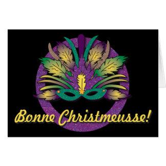 謝肉祭のマスクのクリスマス-ケージャンのフランス語 カード