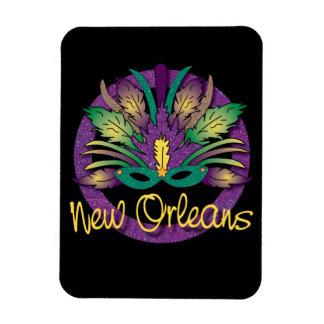 謝肉祭のマスクの磁石-ニュー・オーリンズ マグネット