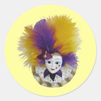 謝肉祭のマスクの金ゴールドテュル ラウンドシール