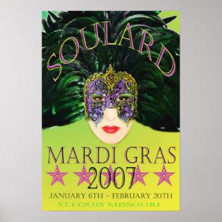 謝肉祭のマスク2007年のポスターセントルイス ポスター