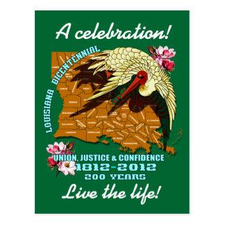 謝肉祭のルイジアナの二百年毎のパーティーはノートを見ます ポストカード