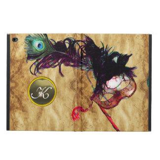謝肉祭の仮面舞踏会の紫色のモノグラムの羊皮紙 POWIS iPad AIR 2 ケース