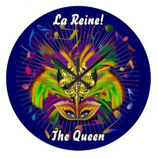 謝肉祭の女王のスタイル3の眺めのノートPlse ラージ壁時計