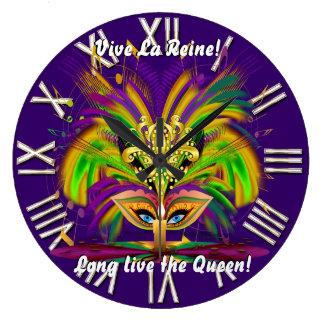 謝肉祭の女王の意見は注意します ラージ壁時計