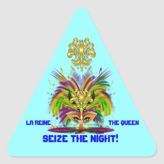 謝肉祭の女王の意見は注意します 三角形シール