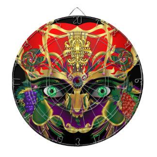 謝肉祭の神話のバッカスの眺めは暗示します ダーツボード