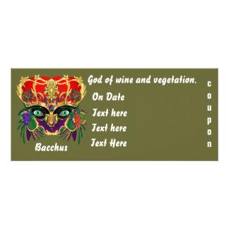 謝肉祭の神話のバッカスの眺めは暗示します ラックカード