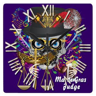 謝肉祭の裁判官30色の重要な眺めのノート スクエア壁時計