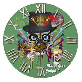 謝肉祭の裁判官30色の重要な眺めのノート ラージ壁時計