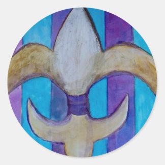 謝肉祭の2013年の(紋章の)フラ・ダ・リ ラウンドシール