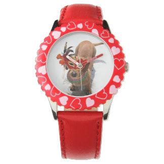 謝肉祭のDachsund犬 腕時計