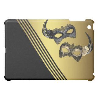 謝肉祭は黒い金ゴールドデザイナーを覆います iPad MINIケース