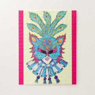 謝肉祭猫のマスクのジグソーパズル ジグソーパズル