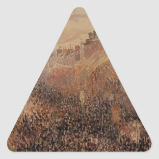 謝肉祭、日没、Camill著通りMontmartre 三角形シール