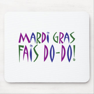 謝肉祭- Faisのドードー! (紫色、青及び緑) マウスパッド